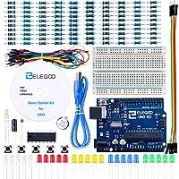 ELEGOO Arduino-Compatible Carte UNO R3 Kit De Démarrage Basique avec Guide d'utilisation Français Kit d'apprentissage de Base Projet