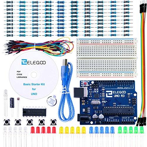 Elegoo Scheda Uno R3 per Arduino Progetto Starter Kit Basic per Principianti con Tutorial in Italiano Learning Kit di Apprendimento