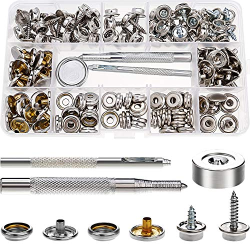 Honesty 30pcs Stainless Steel Boat Cover Canvas Fastener Fast Snap Stud Cap Socket Kit Buy Now Marine Hardware