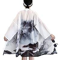 LAI MENG - Kimono da donna, a maniche a 3/4, vestibilità morbida, stile giapponese, taglia unica