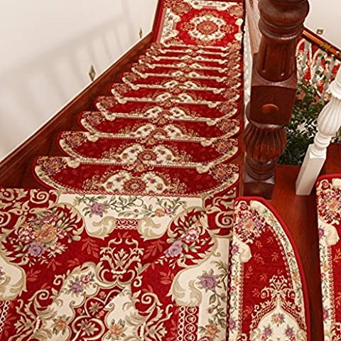 KA-ALTHEA- Gratis autoadesive tamponi in gomma Continental scala scale tappetini antiscivolo scala mat mat mat personalizzato (1 caricato, 5 caricati, 10 caricato) -Area tappetini da bagno tappeto zerbini pastiglie ( colore : 1 Pcs-B Sezione , dimensioni : 24cm*64cm )