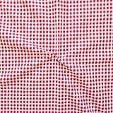 100% Baumwollstoff Karos mittel Stoff Meterware Rot-Weiss