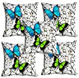 #2: meSleep Colorful Butterfly 3D Cushion Cover (16X16) Set of 5