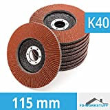 10pezzi Disco lamellare 115mm Grana 40–Disco lamellare abrasivo Mop piatto marrone