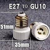 RICISUNG Sockeladapter E27 auf GU10 für LED-Leuchtmittel, Adapter, 1 Stück