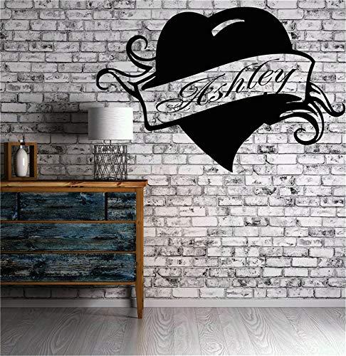 Wandtattoo Schlafzimmer Ashley personifizierte Namensbeschriftungs-kundenspezifisches Zitat-modernes Haus -