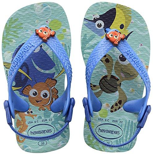 Havaianas Baby Disney Cuties, Scarpe per Gattonare Unisex - Bimbi 0-24, Multicolore (Ice Blue 0642), 19/20 EU