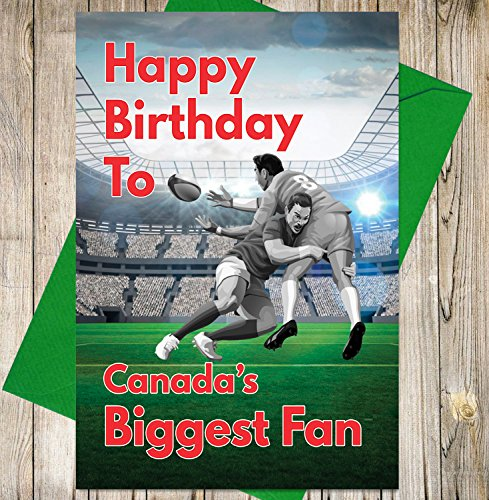 Geburtstagskarte-Kanada Rugby 's Biggest Fan
