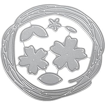 100/% Stahl ca 7,5 cm /ø Rayher 59695000 Stanzschablone: Bl/ätterkranz