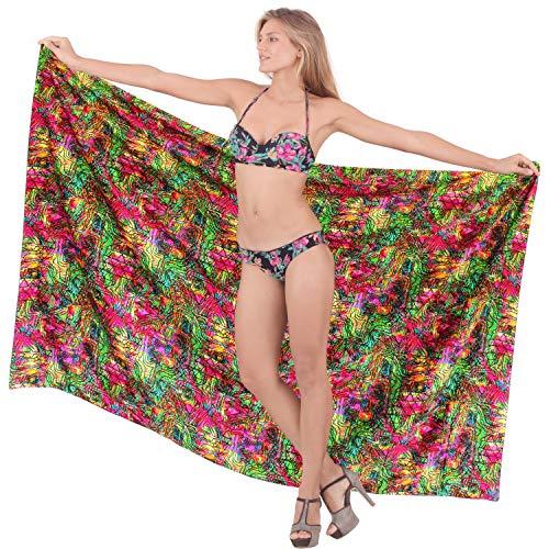 der Frauen Rayon aztekischer hawaiianische Badebekleidung Bikini Rock Wickeln Vertuschungsarong grün