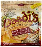 Daadi's Golden Wheat Crisps Diet Plain Khakhra 180g (Pack of 3)