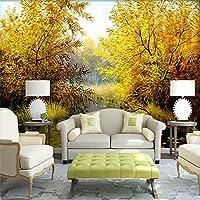 Amazhen Benutzerdefinierte 3D Foto Große Wandbild Tapete Naturlandschaft Malerei  Wandverkleidung Rolle Wohnzimmer Schlafzimmer Baum Tapete