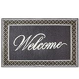 grecute Entrance Mat Fußmatte für lobbies und innen-Eingang Möglichkeiten Schuhe Schaber rutschfeste Fußmatte 50cm x 80cm, grau, 50 x 80