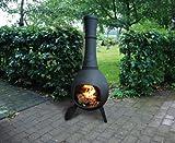 Esschert Ff65 144 x 53 x 53cm Small Terrace Heater Cast-Iron - Black