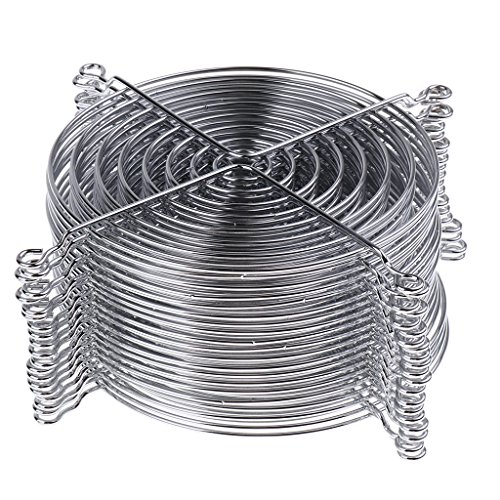 non-brand Sharplace 20pcs Ventilador Grill Guard Pies Altos de Plata Cromada 12cm,...