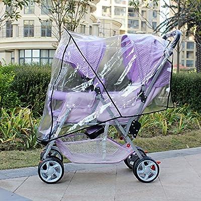 LZTET Silla De Paseo Doble Carretilla Gemela del Cochecito Doble 2 Unidades del Asiento Viaje del Bebé Universal