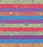Secaneta - Pareo Gigante da Spiaggia per Pavimento, 100% Cotone, 210 x 230 cm, Motivo Mandala Doppio, Multicolore, 210 x 230 cm