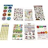 54 Blätter Emoji Kalender Aufkleber für DIY Fotopapier ,Planer, Organizer, Notizbuch,Laptop, Gepäck, Snowboard, Schneeglöckchen Deko