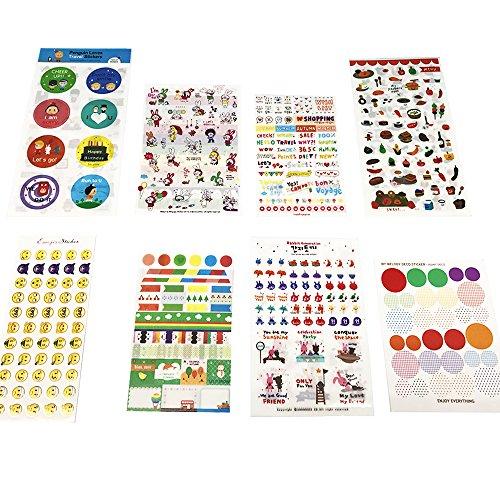 54 Fogli Carino Adesivi Emoji Per DIY Diario Calendario Libro Scrapbook Album Adesivi Decorazione(2962 adesivi)