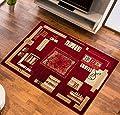 Teppich für Wohnzimmer mit Muster in Rot