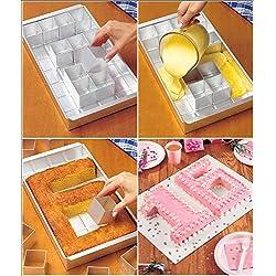 Anokay aluminio Bandeja de horno rectangular Torta bandeja ajustable antiadherente para grandes letras alfabeto números DIY bicarbonato formas set cortadores boda bautizo cumpleaños