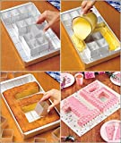 Anokay aluminio Bandeja de horno rectangular Torta bandeja ajustable a..