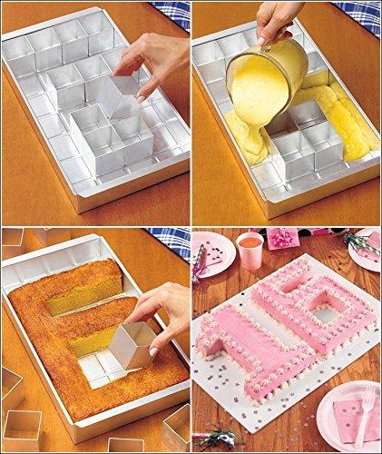 Anokay aluminio Bandeja horno rectangular Torta bandeja