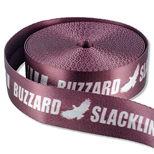 Buzzard Easy-Line Slackline-Set, 15 m lang, 5cm breit + Baumschutz - 2