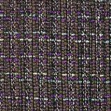 Linton Tweed-Stoff, Meterware, Braun, Violett und Blau