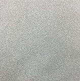 10 Blatt Klebefolie Glitzer Selbstklebende Dekofolie A4 Farbige Bastelfolie Glitter Vinyl Aufkleber für DIY Handwerk Scrapbooking Silber
