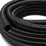 """Wiltec Tubo per laghetti a Spirale spiralato per aspirazione 5 m 40 mm (1 1/2"""") Nero"""