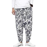 Pantaloni da uomo Harem con pantaloni Harem stampati e unisex con tasca Pantaloni da uomo Harem Pantaloni larghi…