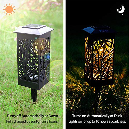 JJ.Accessory Solar Lights Hollow LED Ground Lamp Waterproof Landscape Light for Outdoor Home Garden Yard Pathway Decorative Hollow Ground
