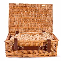 BASIC HOUSE Premium Wicker Picnic Hamper Hampers Shop Retail Display Home Decoration (Medium)