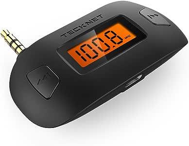 FM Transmitter, TECKNET® 3.5mm Wireless FM Transmitter Handfrei-Anruf Drahtloses Radio Autokit KFZ Einbausatz Kompatibel mit Apple iPhone, iPad, iPod, Samsung, HTC, MP3, MP4 und die meisten Geräte mit 3,5 mm Audio Jack