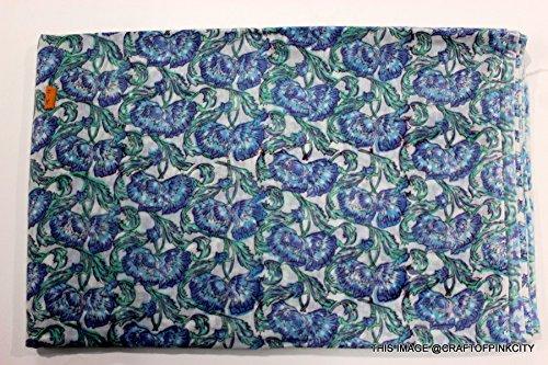 5Yard indischen Stil, Hand Block gedruckt Stoff, Boho Style Hand Block Print Stoff gedruckt in Indien