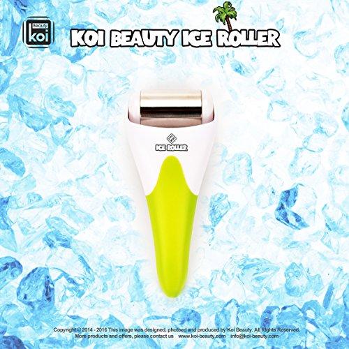 Koi Beauty Derma Haut Ice Walzenkühlung für Gesicht Körpermassage Augen Puffiness Behandlungen und Cold Packs Material Edelstahl Gelb