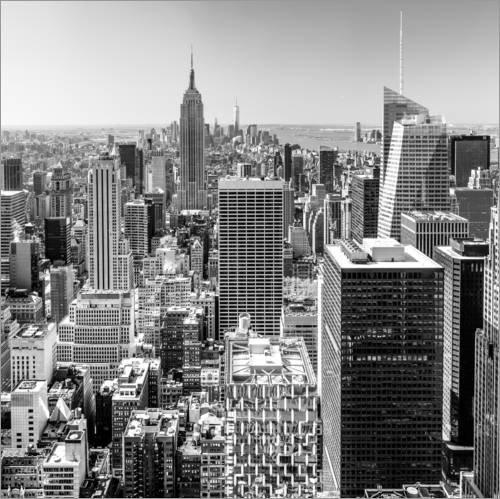 Posterlounge Acrylglasbild 60 x 60 cm: Top of The Rock - New York City (schwarz weiß) von Sascha Kilmer - Wandbild, Acryl Glasbild, Druck auf Acryl Glas Bild