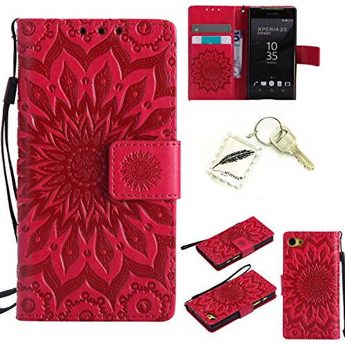 Preisvergleich Produktbild Silikonsoftshell PU Hülle für Sony Xperia Z5 COMPACT / Z5 mini (4,2 Zoll ) Tasche Schutz Hülle Case Cover Etui Strass Schutz schutzhülle Bumper Schale Silicone case+Exquisite key chain X1) #KD (6)