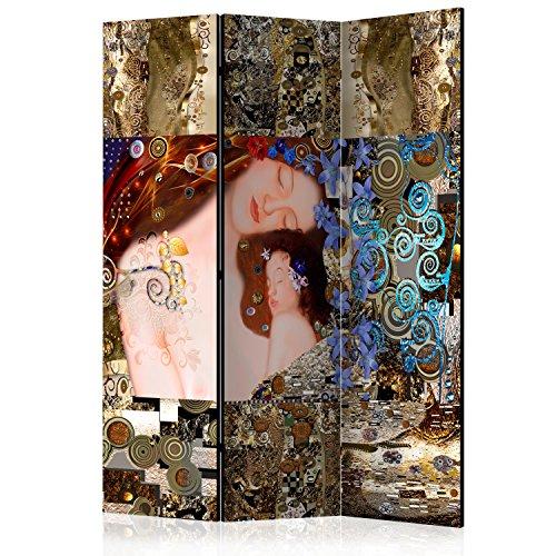 murando - Biombo con Tablero de Corcho - Klimt Madre e Hijo 135x172 cm - de impresión Bilateral - Lienzo de TNT Foto Biombo Decorativo para Interiores - l-A-0015-z-b