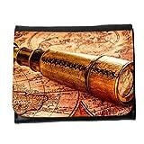 le portefeuille de grands luxe femmes avec beaucoup de compartiments // V00002403 Vintage catalejo en el mapa del mundo // Small Size Wallet