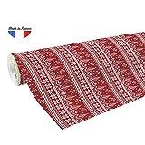 Clairefontaine 201341C Geschenkpapier Alliance (große Breite, 50 x 0,70m, 60g/qm, ideal für Ihre Geschenke) 1 Rolle weihnachtsbäume rot