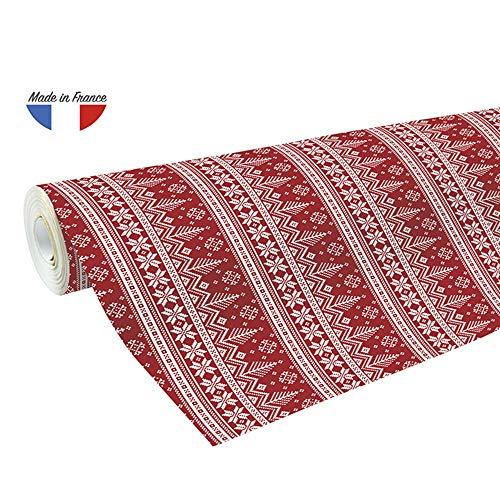 Clairefontaine 201341C Rolle Geschenkpapier Alliance, große Breite, 50 x 0,70m, 60g, ideal für Ihre Geschenke, 1 Stück, Rot