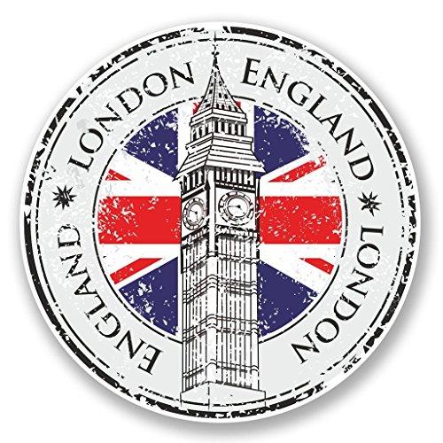 2 x 10cm/100mm Londra Inghilterra adesivo vinile adesivo da viaggio per portatile auto bagagli iPad segno divertimento #5998