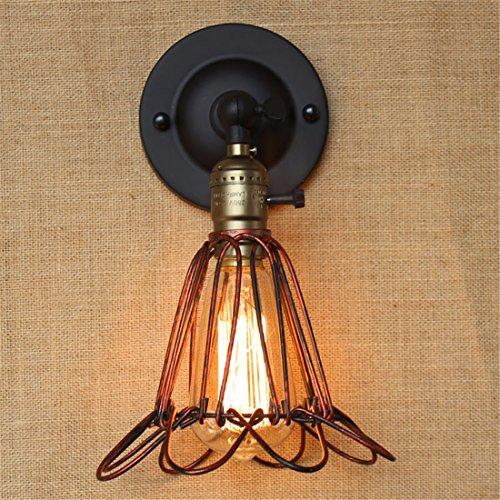 en Retro-Wandleuchte einfache Persönlichkeit kreative Outdoor-europäischen industriellen Eisen Kunst Schlafzimmer Wand Lampe/rot Bronze ()