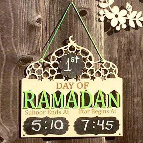 Senoow Tage Der Ramadan Holz Tafel Hängende Plaque Islamischen Gebet Dekoration Geschenke (Holz-tafel-banner)