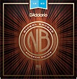 D'Addario NB1253 Nickel Bronze Akustik Gitarre Saiten (Light, 12-53)