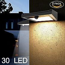 Solarleuchten für Außen, Soft Digits 2 Pack mit 30 LED Solar-Bewegungsmelder Licht, Drahtlosen Wasserdichten Solarbetriebenen Sicherheitslicht mit PIR-Sensor für Garten, Terrasse und Weg
