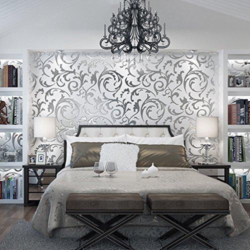 Papier peint xxl intisse design renoncule patate de chambre à coucher salon et mur de tv en largent