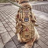 QZY Taktische Hundeweste, Training Combat Molle Vest mit 3 Detachierbaren Pouches-4 Sizes und Farben,Brown,S